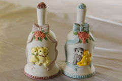 Decorative Ceramic Bells Stock Images