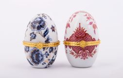 Decorative Ceramic Faberge Eggs Royalty Free Stock Photography