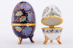 Decorative Ceramic Faberge Eggs Stock Photography
