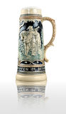 Decorative ceramic german beer stein Royalty Free Stock Photography