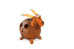 Decorative ceramic goat Royalty Free Stock Images