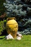 Decorative ceramic pot in the garden Stock Photo