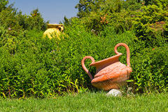 Decorative ceramic pots in the garden Stock Photography