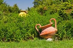 Decorative ceramic pots in the garden Stock Photography
