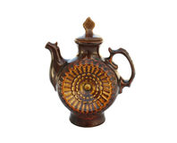 Decorative ceramic teapot isolated on white Royalty Free Stock Images