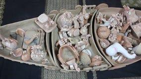 Decorative ceramic toys stock footage