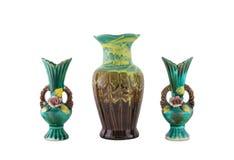 Decorative ceramic vase isolated Stock Photos