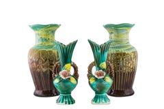 Decorative ceramic vase isolated Stock Images