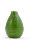 Decorative ceramic vase isolated on white Stock Photo