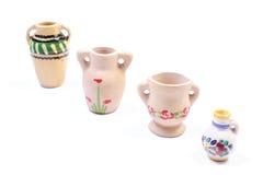 Decorative ceramic vases isolated on white background Stock Image