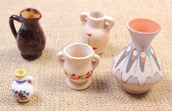 Decorative ceramic vases Royalty Free Stock Image