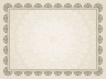 Decorative Certificate background Stock Images