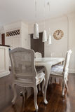 Decorative chairs and table Royalty Free Stock Photos