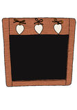 Decorative chalkboard Royalty Free Stock Image