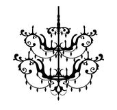 Decorative chandelier Royalty Free Stock Image