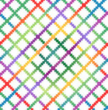 Decorative checkered multicolor pattern Royalty Free Stock Photo