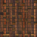 Decorative checkered pattern - seamless background - Ebony wood Royalty Free Stock Image