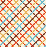 Decorative checkered rural pattern  Multicolor countryside background Stock Image