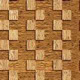 Decorative checkered wall - seamless background - wood wall Stock Photo