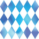 Decorative chess rhombus. Blue & White grid pattern. Abstract paneling pattern. Stock Photography