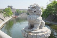 Decorative Chinese dragon statue Stock Photos