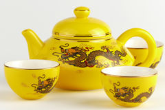 Decorative Chinese teapot Royalty Free Stock Photos