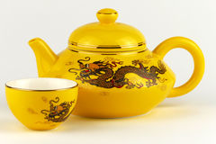 Decorative Chinese teapot Stock Photo