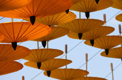 Decorative Chinese umbrellas in composition, Thailand Royalty Free Stock Photo