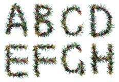Decorative Christmas alphabet Royalty Free Stock Photography