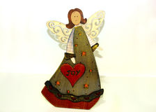 Decorative christmas angel with joy message Stock Image