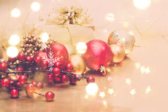 Decorative Christmas background Stock Images