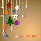 Decorative Christmas background. Decorative Christmas background with decorations. Vector Illustration, EPS 10 Stock Photos