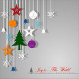 Decorative Christmas background. Royalty Free Stock Photography