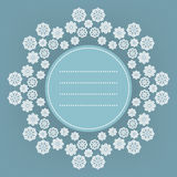 Decorative Christmas background with snowflakes and place to text Royalty Free Stock Photos