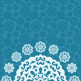 Decorative Christmas background with snowflakes and place to text Stock Images