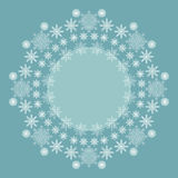 Decorative Christmas background with snowflakes and place to text Stock Photography