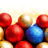 Decorative Christmas balls stock photo