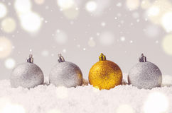 Decorative christmas balls Royalty Free Stock Photo