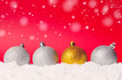 Decorative christmas balls Stock Photos