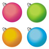Decorative Christmas balls. On white background. Vector illustration Stock Photography