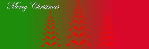 Decorative christmas banner Royalty Free Stock Photo