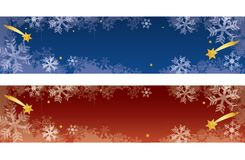 Decorative christmas banners with snowflakes. royalty free illustration