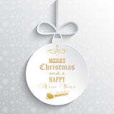 Decorative Christmas bauble background Royalty Free Stock Photo