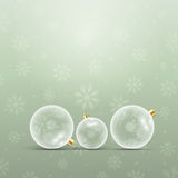 Decorative christmas bauble background. Decorative Christmas background with baubles Royalty Free Stock Images