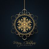 Decorative Christmas bauble background. Elegant Christmas background with Decorative hanging bauble Stock Photos