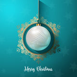 Decorative Christmas bauble background. Decorative Christmas background with hanging bauble Royalty Free Stock Images