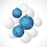 Decorative Christmas baubles Stock Images