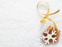 Decorative Christmas biscuit ornament Stock Photo