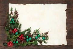 Decorative Christmas Border Royalty Free Stock Photos