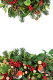 Decorative Christmas Border Stock Image